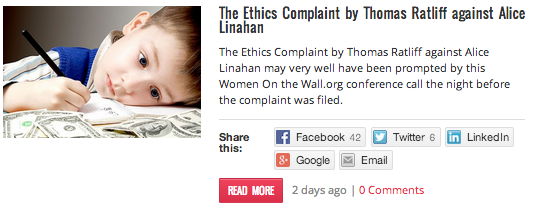 Ethics Complaint against Thomas Ratliff
