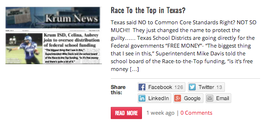 Race To the Top in Texas?