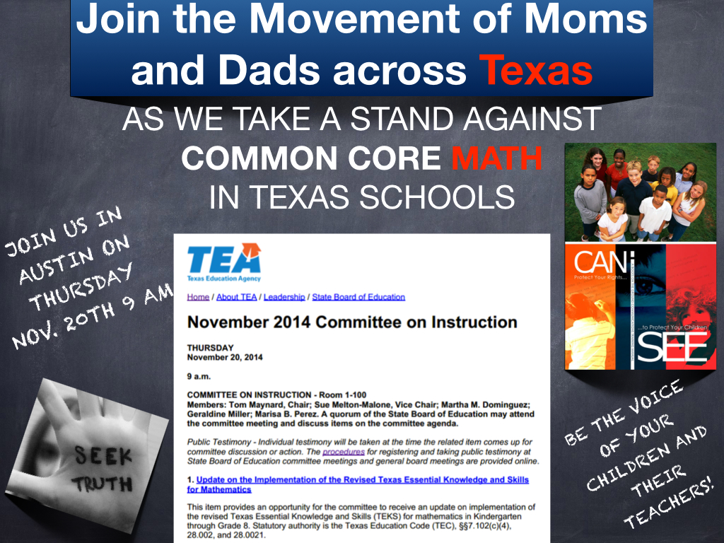 TEA join the movment to stop common core math.001