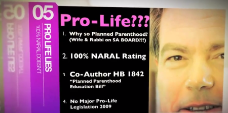 Joe Straus Honored by Planned Parenthood and gets a 100% rating from NRAL