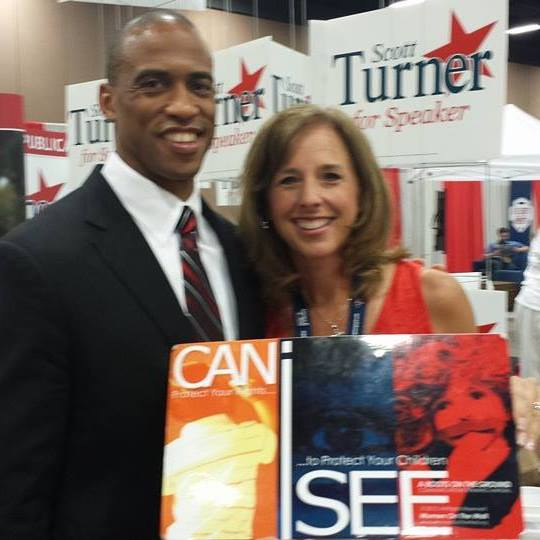 Rep. Scott Turner and Alice Linahan