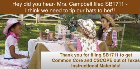 Hat Tip to Sen. Donna Campbell