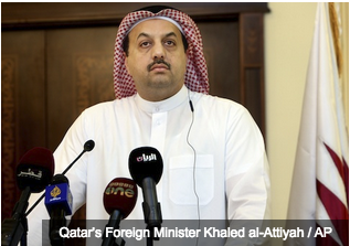 Qatar's Foreign Minister Khaled al-Attiyah / AP