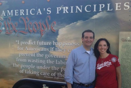 Sen. Ted Cruz and Alice Linahan