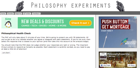 Philosophy Experiments