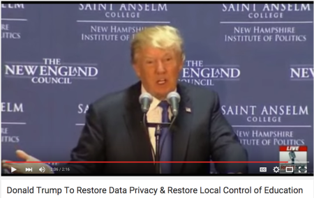 Donald Trump on Data Privacy and the Common Core