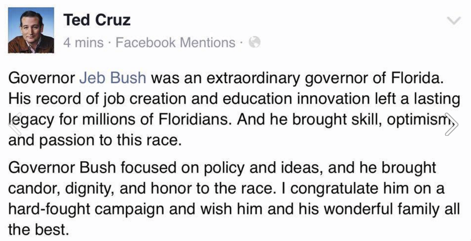 Ted Cruz on Jeb Bush