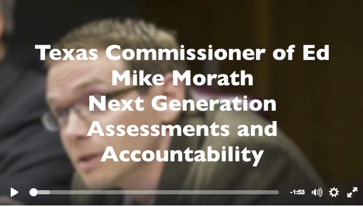 Commissioner Mike Morath and Non-Cognitive TEKS